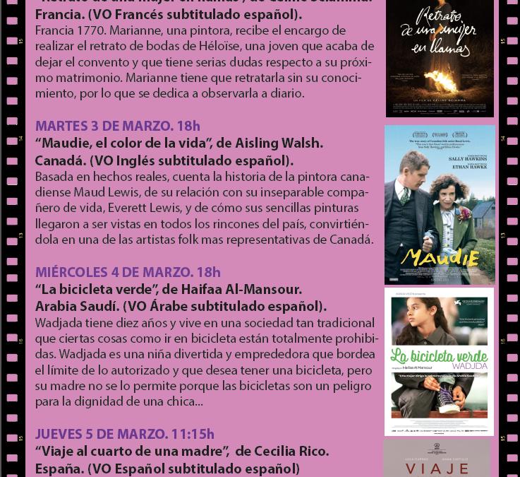 El Festival de Cine de Alicante, la Concejalía de Igualdad y la Escuela Oficial Idiomas impulsan la segunda edición de 'Mujeres en el cine'
