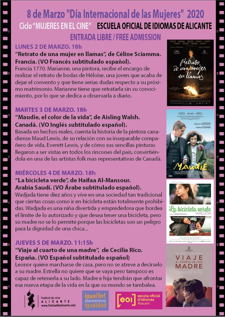 8 de marzo festival de cine día de la mujer