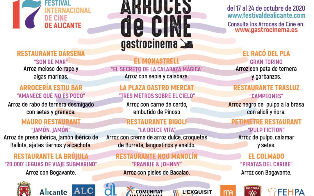 El Festival de Cine de Alicante presenta una nueva edición de 'Arroces de Cine'