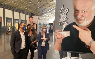 Mari Carmen Sánchez inaugura la exposición fotográfica del Festival de Cine de Alicante en la estación de ADIF